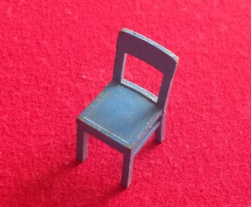 "- Original - Dinky Toys Dolly Varden Kitchen Furniture 103E "" Chair "" in Light Blue Finish."